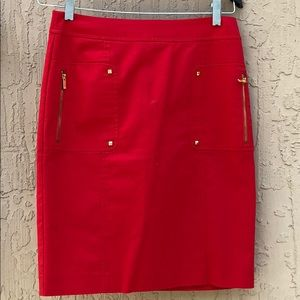CALVIN Klein two front pocket Red skirt